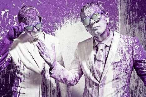 Purple Paint Photography