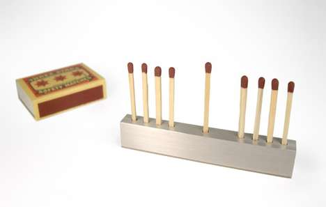 Mini Matchstick Menorahs