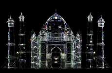 Crystalline Architectural Wonders - The Swarovski Crystal 'Blue Noses' FAMOS Exhibition