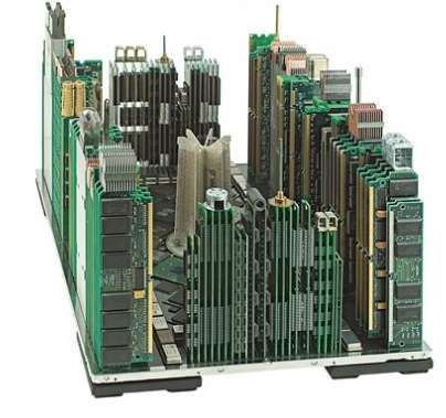 Circuit Board Cityscapes - Franco Recchia Breathes Life into Old Computer Components