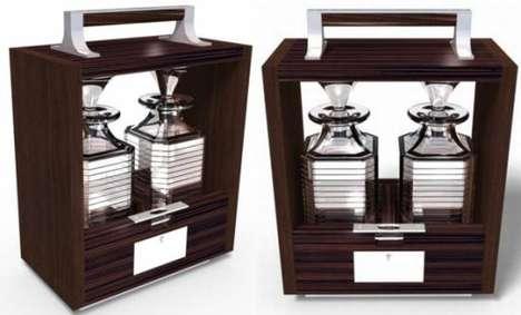 Woodgrained Vino Cases
