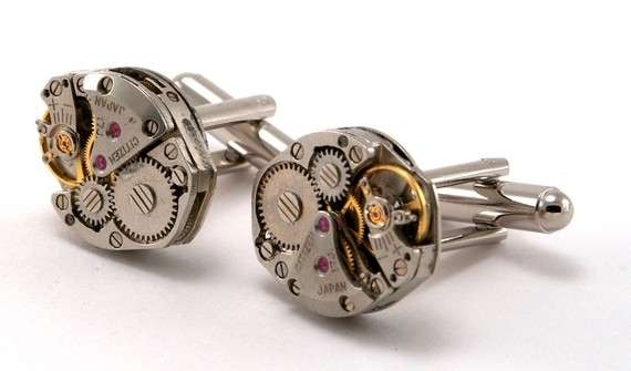 Watch Gear Cuff Links
