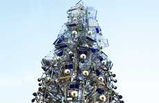 Christmas Tree Cart Hybrids - The 2010 Shopping Cart Tree Represents Generosity and Abundance