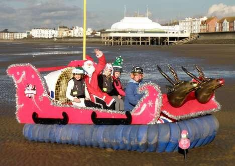 Hovering Santa Rides