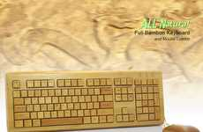 Bamboo Peripherals - This All Natural Full Bamboo Keyboard and Mouse Combo are Truly Green