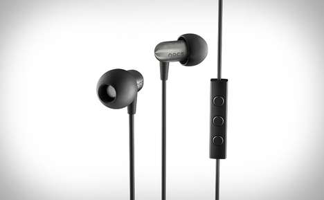 Sleek Steel Earbuds - The Nocs NS800 Stainless Earphones Feature the Best of Two Worlds