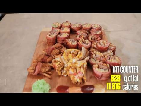 Japanese Junk Food - Epic Meal Time Infuses McDonald's With Sushi to Create Fast Food Sushi