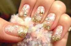 Sparkling Snowflake Nails - This Holiday Manicure Will Guarantee Your Hands get Plenty of Attention