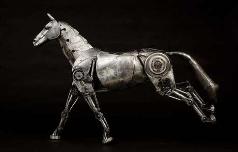 Steampunk Mechanical Horses