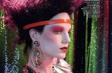 Psychedelic Burlesque Spreads - Iris Strubegger by Francois Nars Showcases Chaotic Couture