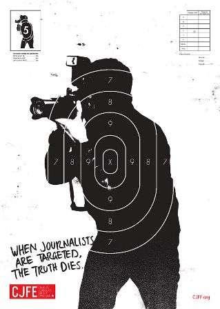 Reporters as Shooting Targets