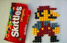 Palatable Pixelated Portraits - These Matt McManis Skittles Illustrations Feed Your Inner Gamer