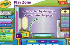 Infantile Interactive Apps - The Crayola Online Initiative 'Lights, Camera, Color' is Cute