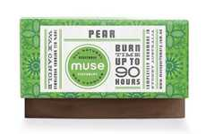 Intricately Patterned Packaging - Muse Wax Candles Branding is so Fancy it's Fragrant