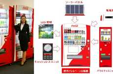 3D Refreshment Dispensers - Coca Cola Japan Changes the Face of Vending Machines