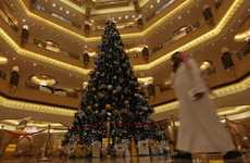 $11 Million Tannenbaums - The Emirates Hotel Christmas Tree in Abu Dhabi is Fit for Royalty