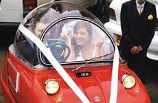 Itty-Bitty Wedding Cars - Ben and Nicky Williams Made Their Nuptials Memorable in an Unusual Way