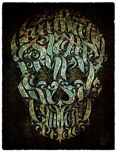 Cunning Skull Typography