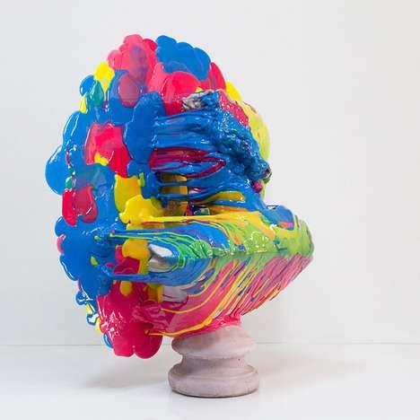 Plastic-Splattered Busts