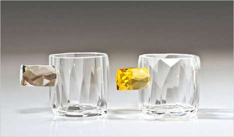 Celebrate Glamourously with the Orfeo Quagliata Sculptural Glass Cups