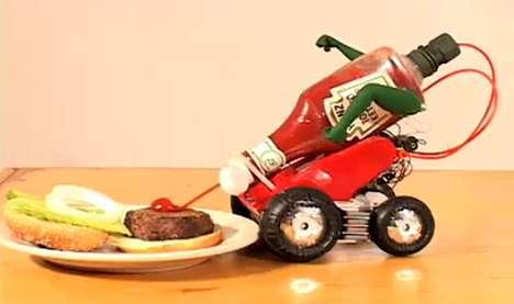 Condiment-Squeezing Robots
