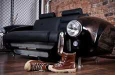 Vintage Car Couches - The 'Spirit of 427' Takes You Back to the 60s