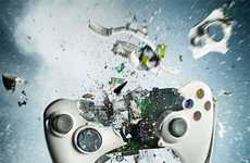 Shattering Gaming Art - The Dan Saelinger Xbox 360 Explosion is a Gamer's Nightmare