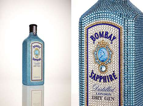 Bedazzled Liquor Bottles - Limited Edition Bombay Sapphire is Adorned in 10,000 Crystals