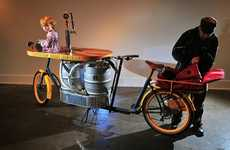 DIY Traveling Bars - The Beer Bike is a Unique Bar on Wheels