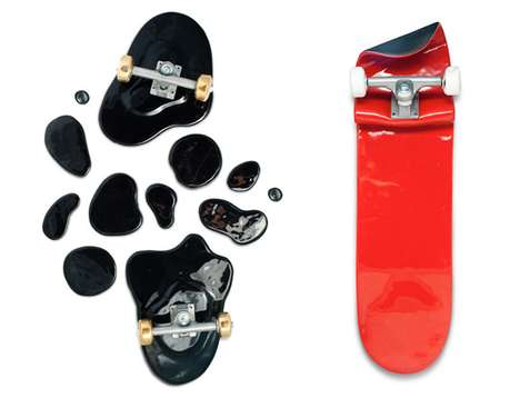 Destroyed Skateboard Art