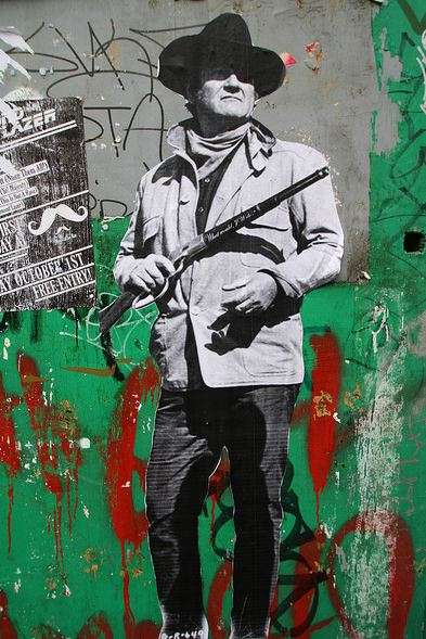 Film-Inspired Paste-Ups - John Wayne's 'True Grit' Street Art Decks the Streets of London