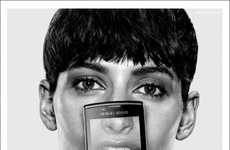 Fashionable Phone Facials - The Armani/Samsung Campaign Puts a Face to the Brand Partnership