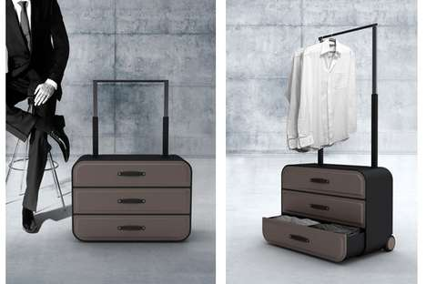 Cabinet-Inspired Luggage