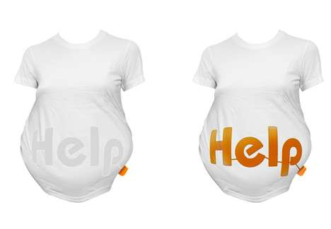 Crowd-Alerting Shirts - The 'Help-Shirt' Cries 'HELP' When Pregnant Women Can't