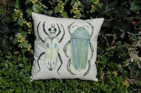 Eco-Conscious Bug Cushions