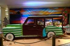 Life-Sized Cookie Cars - The Gingerbread Woodie is a Replica of the Ford Vehicle