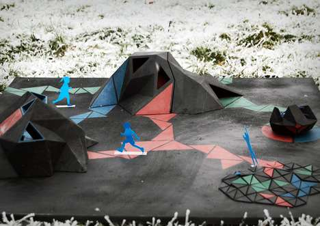 Mountainous Rubber Playgrounds