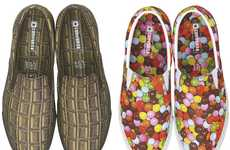 Bonbon-Patterned Sneaks - These Converse Japan Oyatsu Candy Shoes are Perfect for Chocolate-Lovers