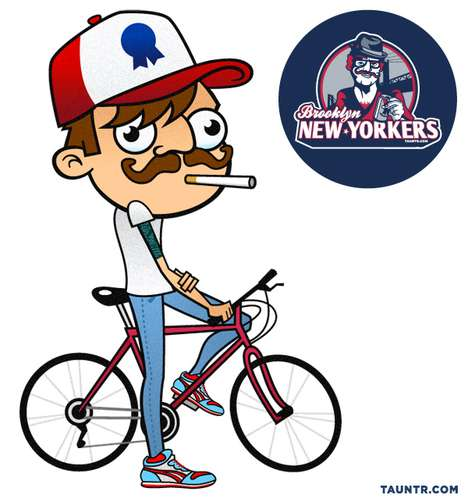 Hipsterized Sports Logos