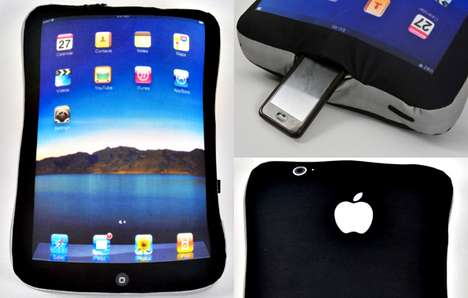 Gigantic Gadget Cushions - The iPad Pillow Takes the Apple Obsession a Few Steps Further