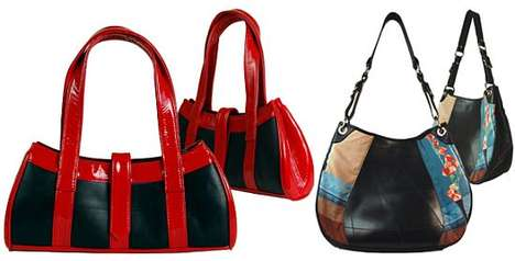 Sustainable Luxury Handbags - The Passchal Eco-Luxury Handbags are Made from Tires and Leather