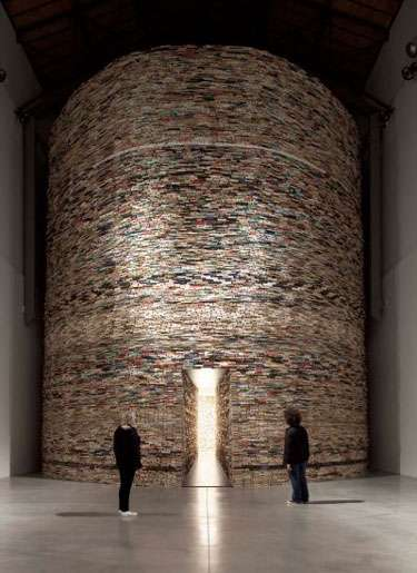 Trippy Novel Installations - The Scanner Book Cave is Incredibly Mesmerizing in Design