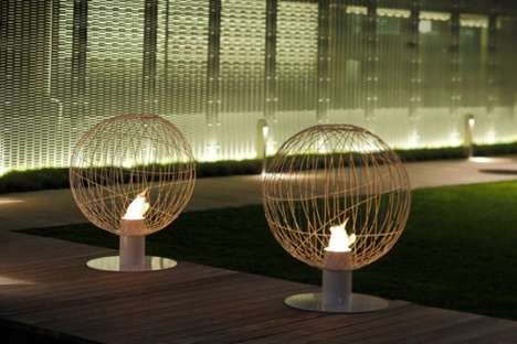 Orbital Basket Infernos - The Mario Mazzer Bioethanol 'Globe' Fireplace Adds Character to Any Home