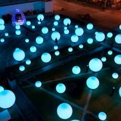 Mesmerizing Light Displays - The 'DJ Light' Installation will Captivate All Passersby