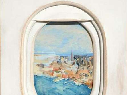 Airplane Window Art - Jim Darling Paints Landscape Views of Aircraft Windows