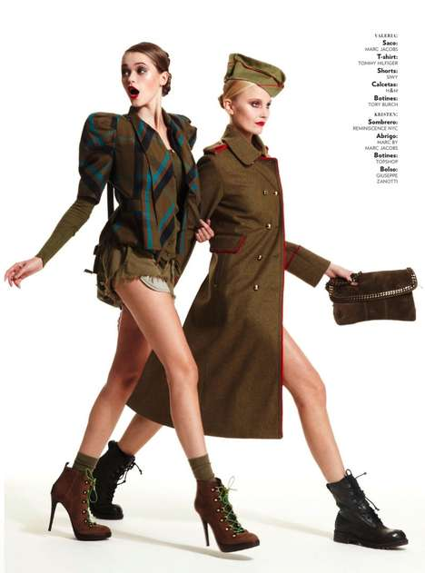 The Glamour Mexico January 2011 Gets You Ready to Battle in Style