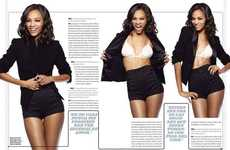 Sizzling Business Attire - Zoe Saldana Spices It Up for Esquire Mexico