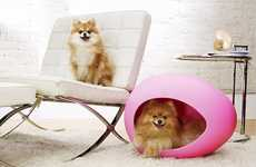 Egg-Shaped Pet Beds - The pEi Pod is Egg-xactly What a Posh Pet Desires