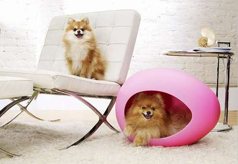 Egg-Shaped Pet Beds