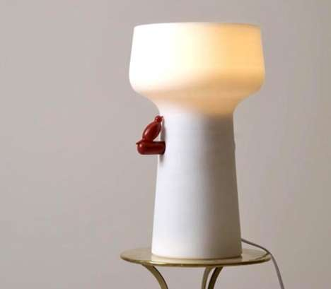 Secret Naughty Lamps - 'Love the Bird' is a Sensual Lighting Solution